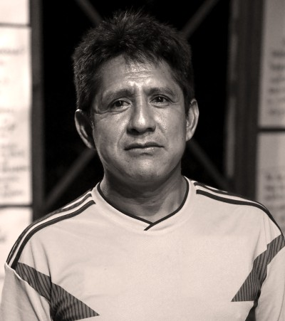 A photo of Gerardo Macuna, from the Macuna ethnic group and legal representative of the Indigenous Council for Yaigoje-Apaporis.