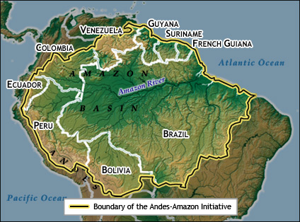 Brazil Map of Amazon Amazon Basin River Map Amazon