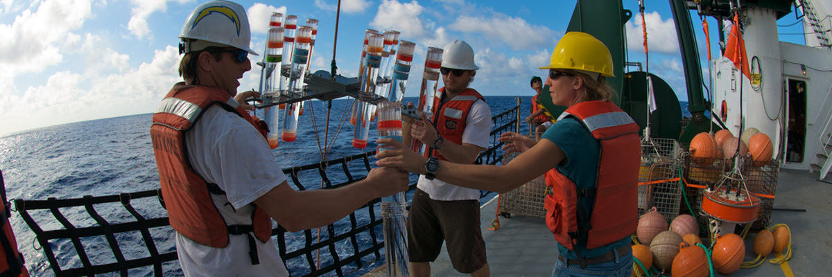 Courtesy of University of Hawaii - recovering sampling equipment