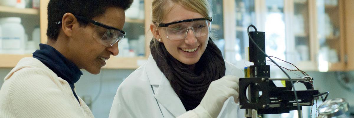 Courtesy of Lance Hayashida, Prof. Sossina Haile, Div. of Engineering & Applied Science, in lab with student Nina Krautwurst