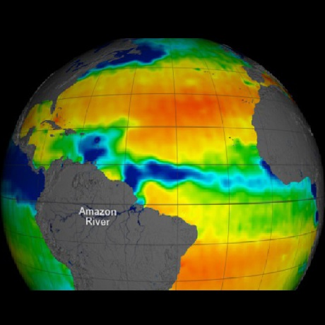 Courtesy of NASA - salinity in 2011 as measured by the NASA Aquarius satellite